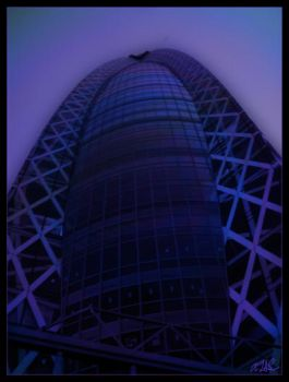 Tokyo Future Egg Tower by AdamTSC