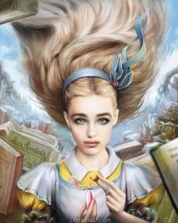 Alice in Wonderland, Portrait by OmriKoresh