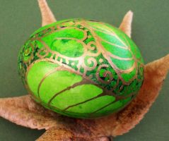 Batik Style Handpainted Egg by MandarinMoon