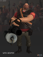 Heavy - Team Fortress 2 (Blue and Red) by JhonyHebert