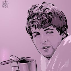 Beatles 1: Paul, Cup by notkristina