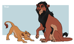 Uncle Scar by yelnatsdraws