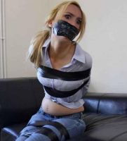 Peyton List Tape Bound and Gagged by Goldy0123