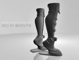SCI FI BOOTS by SeanNash