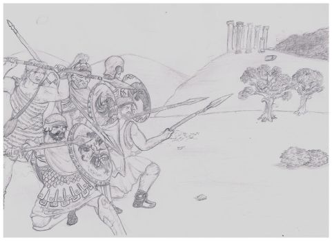 Greek Hoplites by Hashashin619