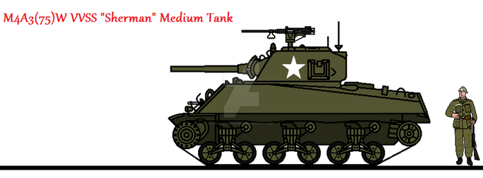 M4A3(75)W VVSS Sherman Medium Tank by thesketchydude13