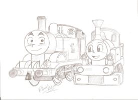 Request: Thomas and Lady by Robie-Chan