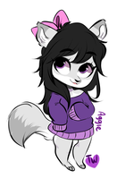 Aggie Chibi Comm by temporaryWizard