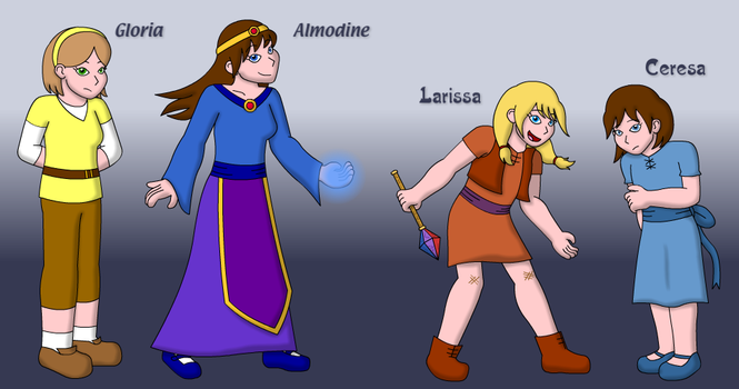 Character redesigns by The-Legendary-Female