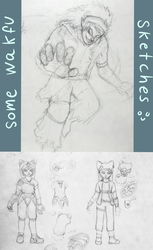 Bunch of wakfu sketches by AnfelMeva