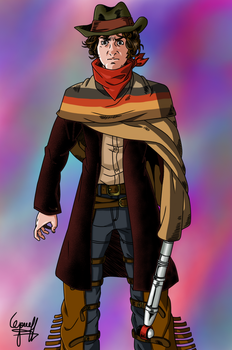REQUEST: Fourth Doctor(Cowboy Outfit)-Final by josephliendro10
