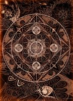 Mandala sepia by kornera