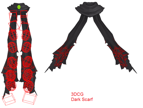 MMD- Dark Scarf w-Physics by MMDFakewings18