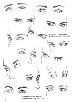 Eyes practice 2 by Sellenin