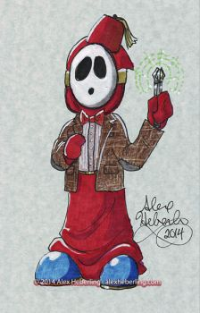 Doctor Shy Guy Sketch Card by alex-heberling