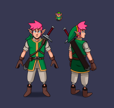 The Legend of Zelda Link to the past redesign by Eduardo-13