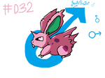 #032 Nidoran (male) by SaintsSister47
