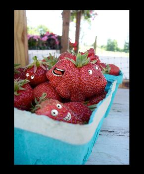Fun with strawberries by dragorien