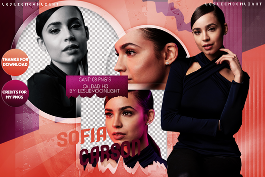SOFIA CARSON|PACK PNG 07| LESLIE MOONLIGHT by LeslieMoonlight