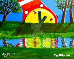 SWATCH WATCH ART SCENIC LANDSCAPE by TEOFAITH