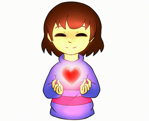 Frisk filled with Determination [GIF] by MoXiio-Kun