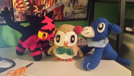 Alola starters by gwilly-crochet