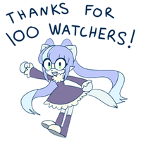 Thanks for 100 Watchers! by BlueVelour