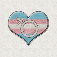 Transgender Pride Heart with Pride Symbol by lovemystarfire