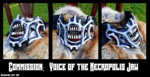Commission: Voice of the Necropolis Jaw by Epic-Leather