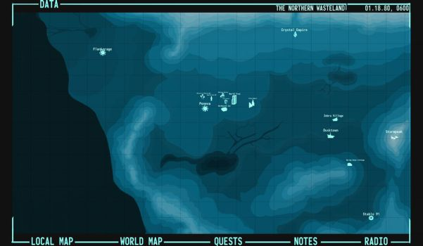 Fo:E - Rising Dawn - Map of the Northern Wasteland by InterloperS29