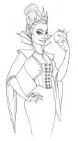 Evil Queen 1 sketch by countersunk81