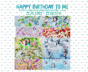 [SHARE PSD ART] HPBD TO ME by surydesigner