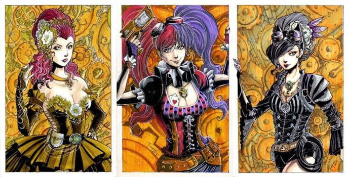 Steam Punk Gotham Sirens Set by tepaipascual