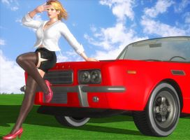 DOA5 Tina's Latrans Car by darkblueking