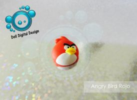 Charm angry bird red by DollDigitalDesign