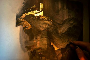 Smaug... Work in progress 4... The glow of Smaug! by Yoann-Lossel