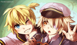 Len and Oliver _ Vocaloid by FleshCreature