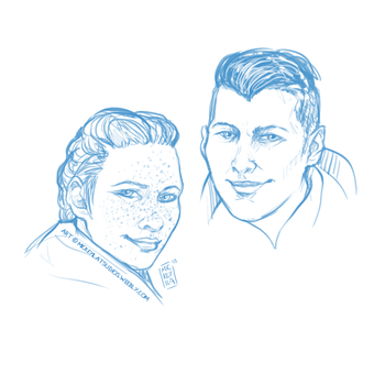 Harding and Krem - Warm up sketches by Mickeyila