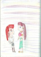 Frigha and Valka in high school by Kelseyalicia