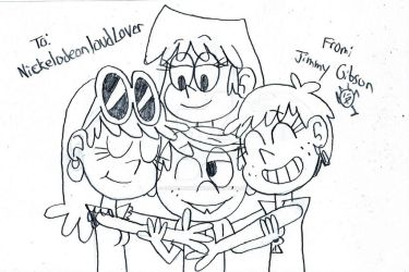 Hugging Lincoln loud by CelmationPrince