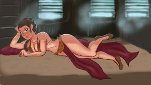 Slave Leia (Star Wars ROTJ) by DJdonjuan