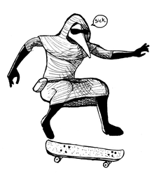 SCP Skateboarder by VHSzombie