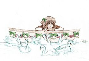Day 7: Swans by Fishenod