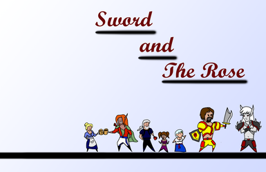 Chibi Cast of Sword and Rose by MattDrummy