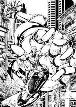 Captain Canuck inks by Fladam