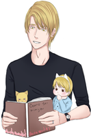 Nath, baby and cat by Aeriz-World