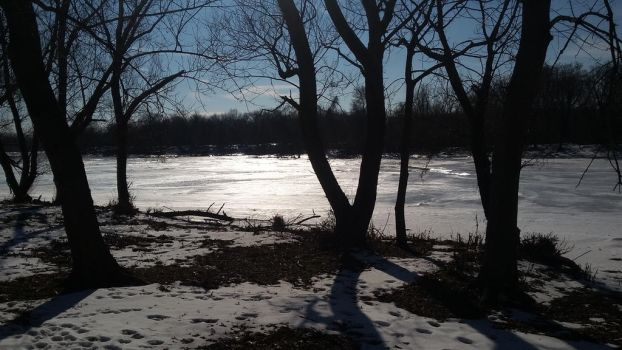 Frozen River During Daylight 2 by SharkGirl15