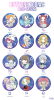 Badges Horoscope / MaHo-Megumi by caly-graphie