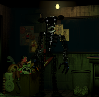 Phantom Endoskleton FNAF3 Fanmade by FreddyFredbear