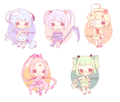 Adoptables - Magical Girls (sold out) by luupon